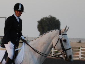 Sarah and Nelson competing in Dubai
